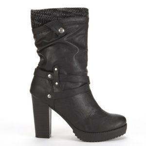 UnionBay Sweater Heel Boot